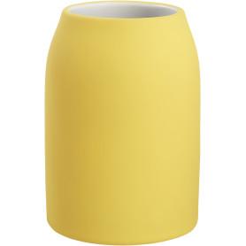 Стакан для зубных щёток «Unna» керамика цвет светло-жёлтый