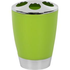 Стакан для зубных щёток «Альма» пластик цвет зелёный
