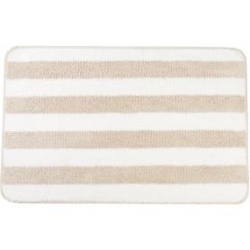 Коврик для ванной комнаты Passo 45x70 см цвет бежевый/белый