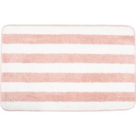 Коврик для ванной комнаты Passo 45x70 см цвет розовый/белый