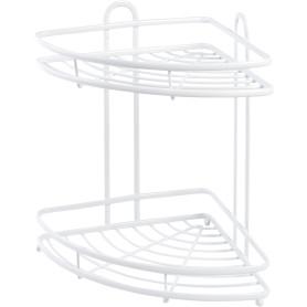 Полка для ванной комнаты Termo SWR-1003 двухъярусная угловая, металл, цвет белый