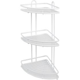 Полка для ванной комнаты Termo SWR-1003 трёхъярусная угловая, металл, цвет белый