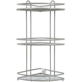 Полка для ванной комнаты Termo SWR-1003 трёхъярусная угловая, металл, цвет серый