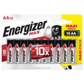 Батарейка алкалиновая Energizer Max AA, 10 шт.