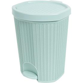 Контейнер для мусора Вязание 18 л цвет морской волны