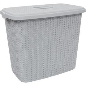 Корзина для белья Вязание 6 л цвет серый
