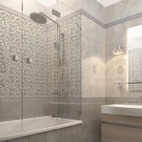 Плитка настенная «Дора» 20x30 см 1,44 м² цвет серый микс