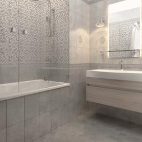 Плитка настенная «Дора» 20x30 см 1,44 м² цвет тёмно-серый