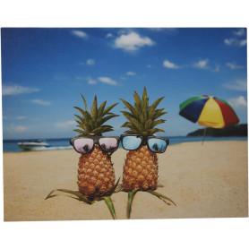 Картина на холсте «Ананасы на пляже» 40х50 см