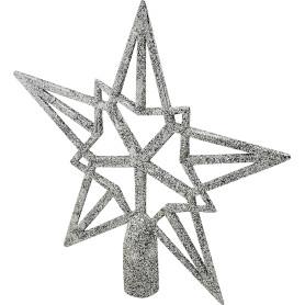 Верхушка для ёлки, 20 см, цвет серебряный