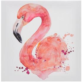 Картина на холсте «Фламинго» 30x30 см