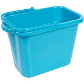 Ведро прямоугольное 9.5 л пластик цвет бирюзовый