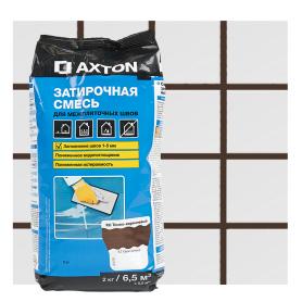 Затирка цементная Axton А.410 цвет темно-коричневый 2 кг