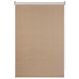 Штора рулонная Dublin блэкаут 60x160 см, цвет коричневый