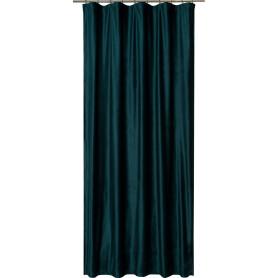 Штора на ленте «Софи», 160x280 см, однотон, цвет тёмно-зелёный