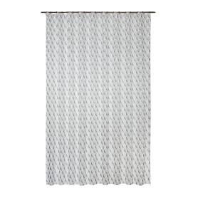 Тюль на ленте «Меган», 250x280 см, геометрия, цвет серо-белый