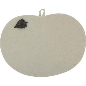 Коврик для бани «Сиденье» 44x36 см цвет белый