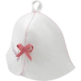 Шапка банная «Милашка», фетр, цвет белый