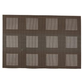 Салфетка сервировочная «Квадраты» 30x45 см цвет коричневый