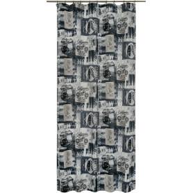 Штора на ленте «Калифорния» 145х260 см цвет серый