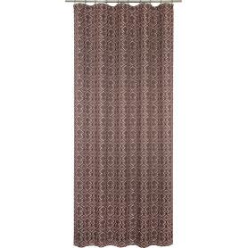 Штора на ленте «Этника» 145x260 см геометрия цвет коричневый