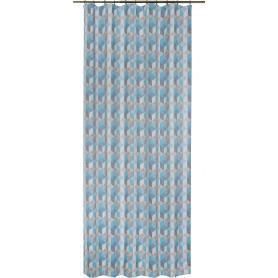 Штора на ленте «Футуризм» 145х260 см цвет голубой