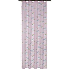 Тюль на ленте «Единорог» 250х260 см цвет розовый
