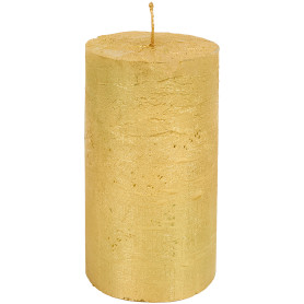 Свеча-столбик «Рустик», 7x13 см, цвет золото