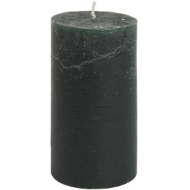 Свеча-столбик «Рустик» 7x8 см, цвет тёмно-зелёный