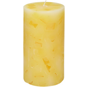 Свеча-столбик «Меланж», 7x13 см, аромат ваниль