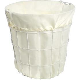 Корзина для белья с чехлом, 400x400x400 мм, цвет белый
