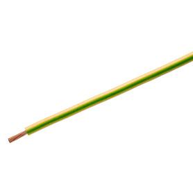 Провод Камкабель ПуГВ 1x4, на отрез, ГОСТ, цвет желто-зеленый
