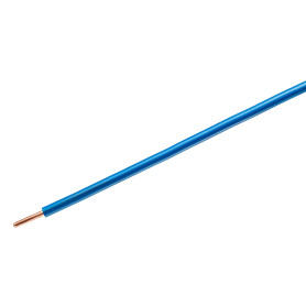Провод Камкабель ПУВ 1x6, на отрез, ГОСТ, цвет синий