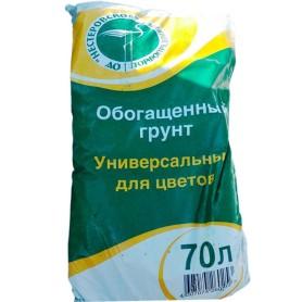 Грунт для цветов универсальный обогащённый 70 л