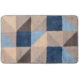 Коврик для ванной комнаты Visa 50x80 см цвет серый/голубой