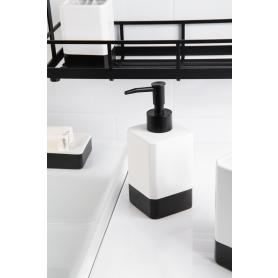 Диспенсер для жидкого мыла Text керамика цвет чёрный/белый