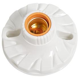 Патрон-стойка пластиковая E27 Oxion прямая цвет белый