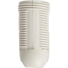 Патрон-полувинт пластиковый Oxion E14 цвет белый