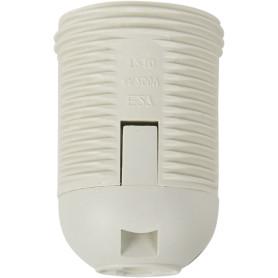 Патрон-полувинт пластиковый Oxion E27 цвет белый