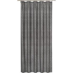 Штора на ленте «Канвас», 160x280 см, цветы, цвет чёрный