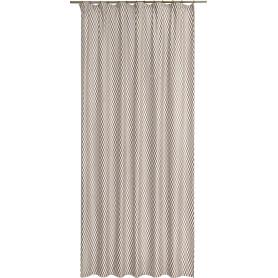 Штора на ленте «Ромбы», 160x280 см, геометрия, цвет коричневый