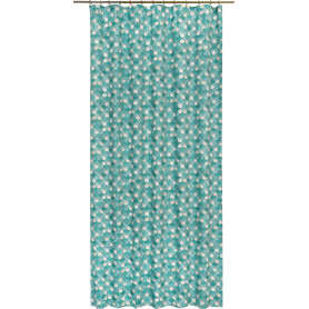 Штора на ленте «Мозаика», 160x280 см, геометрия, цвет бирюзовый