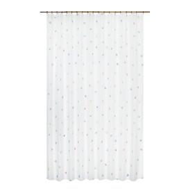 Тюль на ленте «Сердечки», 250x280 см цвет белый