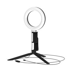 Светильник кольцевой светодиодный Gauss Ring Light Ø16 см с пультом управления