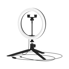 Светильник кольцевой светодиодный Gauss Ring Light Ø26 см с пультом управления