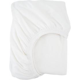 Простыня двуспальная, 180x200 см, трикотаж, цвет белый