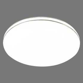 Светильник настенно-потолочный светодиодный Leka 2051/CL, 14 м², белый свет, цвет белый