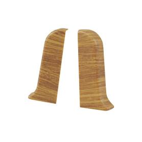 Заглушка для плинтуса левая и правая «Дуб Небраска», высота 52 мм, 2 шт