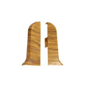Заглушка для плинтуса левая и правая «Дуб Больцано», высота 56 мм, 2 шт