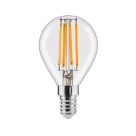 Лампа светодиодная филаментная Lexman E14 220 В 4.5 Вт шар прозрачный 470 лм, тёплый белый свет